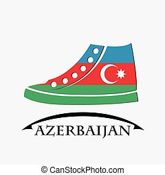 shoes icon made from the flag of Azerbaijan