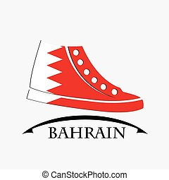 shoes icon made from the flag of Bahrain