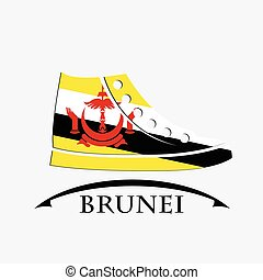 shoes icon made from the flag of brunei