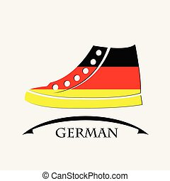 shoes icon made from the flag of German