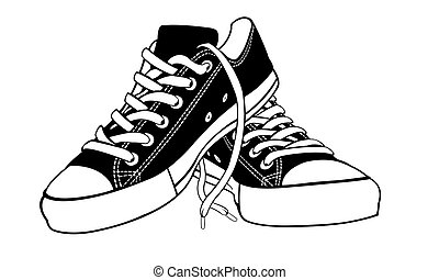 shoes illustration isolated on white