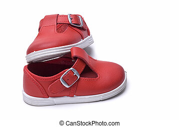 Shoes in red for kids.