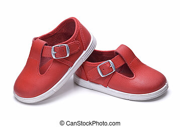 Shoes in red.