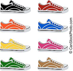 shoes in vector on white background
