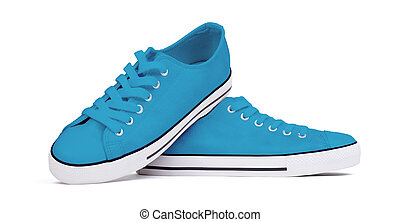 Shoes isolated on white background - Blue