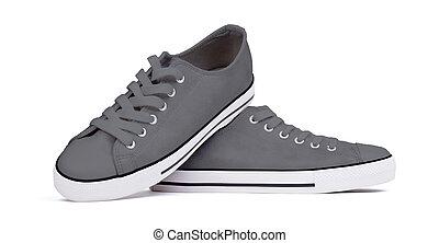 Shoes isolated on white background - Grey