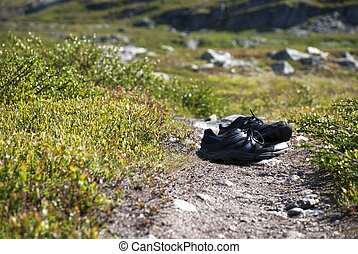 Shoes on a Walking Path