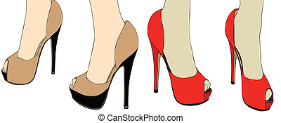 Shoes on the catwalk - A fashion show for the new...