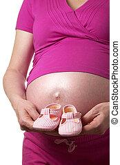 shoes, para, un, bebé