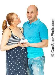 shoes, pareja embarazada, teniendo bebé, feliz