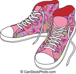 shoes., sala gimnastyczna