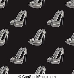 Shoes seamless pattern