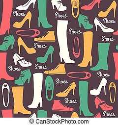 Shoes seamless pattern.