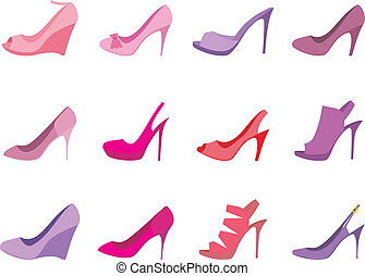 Shoes set - Vector illustration. It is created in the...