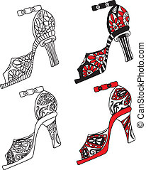 Shoes set vector illustration