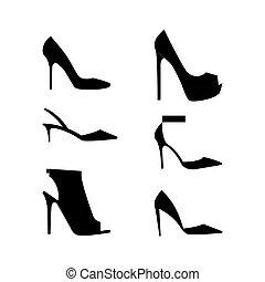 shoes, siluetas, icono