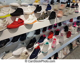 shoes sport front store buing in market center