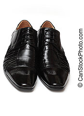 Shoes - Shiny and polished Traditional classic male black...
