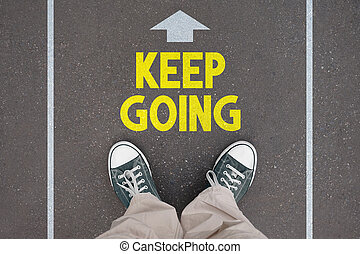 Shoes, trainers - keep going