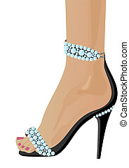 Shoes with Diamonds - Women\'s shoes adorned with diamonds....