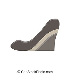 Shoes woman vector icon fashion illustration isolated heel design high stiletto style female silhouette