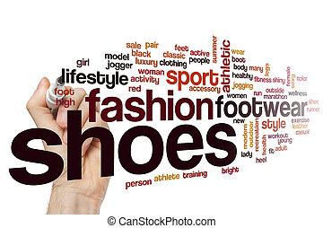 Shoes word cloud concept
