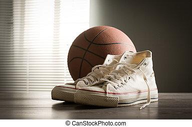 shoes, y, baloncesto