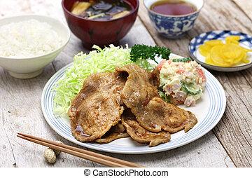 shogayaki, japanese ginger pork