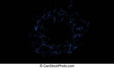 Shok wave in the cosmos - blue