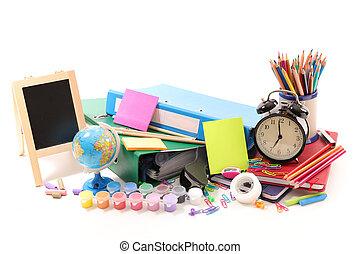 shool, selección, accesorios, empresa / negocio, o