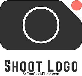 shoot logo with simple camera sign