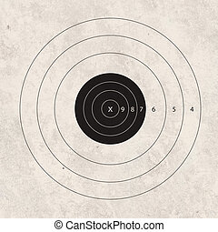shoot target empty - gun shoot to the shooting target...