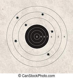 shoot target missing - gun shoot to the shooting target...