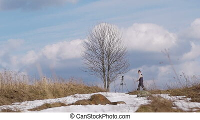 Shoot the lone tree