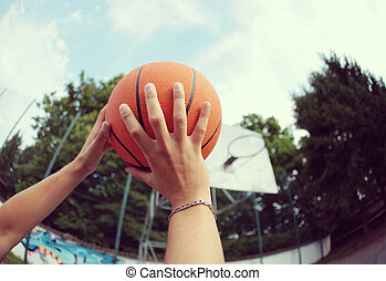Shooting a Basketball