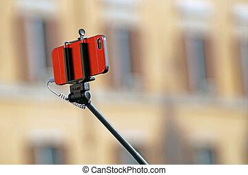 shooting a selfie