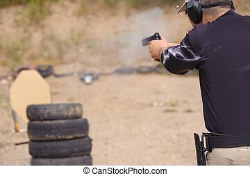 Shooting and Weapons Training. Outdoor Shooting Range