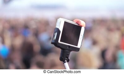 Shooting by the phone of the concert