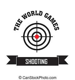 Shooting symbol on white background