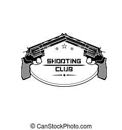 Shooting club emblem, logo