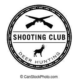 Shooting club hunter badge