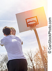 Shooting Free Throws - Young man shooting free throws from ...