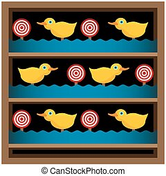Shooting Gallery - An image of a duck shooting gallery.
