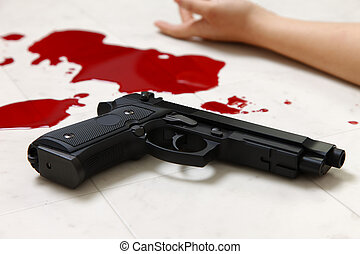 Shooting Incident - concept shot of the crime scene of ...