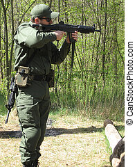 Shooting - Man practicing shooting