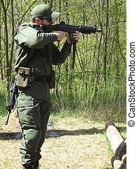 Shooting - Man practicing shooting