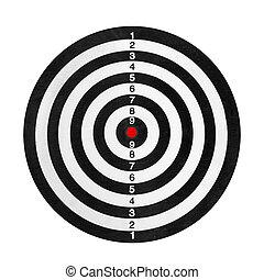 Shooting range target isolated on white background