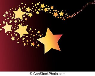shooting star comet abstract light