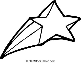shooting star decorative cartoon