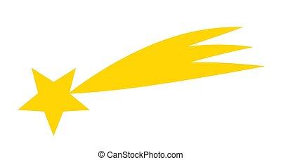 Shooting star flat icon.